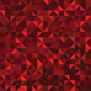 Red Geometric Background. Vector Mosaic Pattern by ESSL