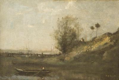 Estacade Normande-Jean-Baptiste-Camille Corot-Giclee Print