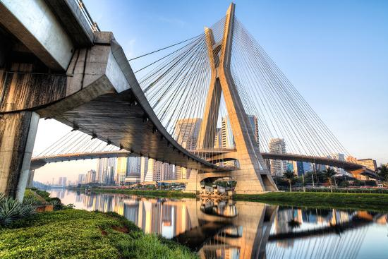 Estaiada Bridge, Sao Paulo, Brazil, South America-Thiago Leite-Photographic Print