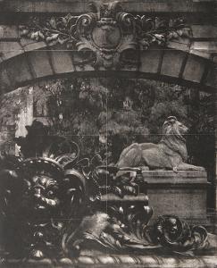 Facade II - K with Lion by Esteban Chavez