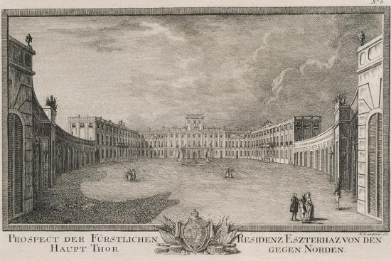 Esterhazy Palace in Vienna by F Landerer, 1784, Austria 18th Century Engraving--Giclee Print