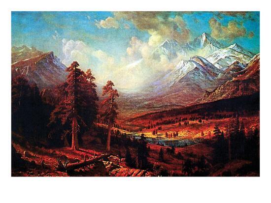 Estes Park Art Print By Albert Bierstadt Artcom