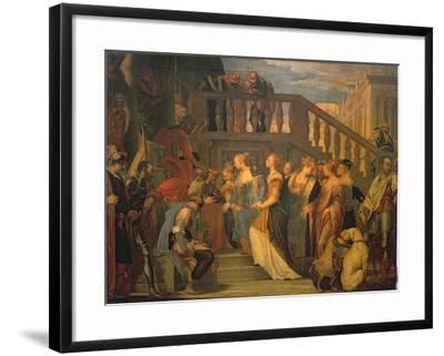 Esther and Ahasuerus-Paolo Veronese-Framed Giclee Print