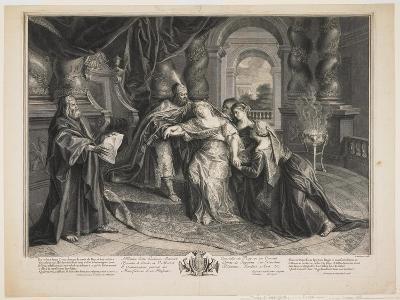 Esther before Ahasuerus, C.1705-Gérard Audran-Giclee Print