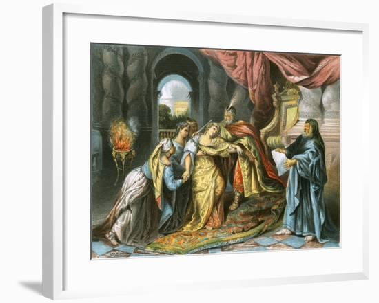 Esther before Ahasuerus-Antoine Coypel-Framed Giclee Print