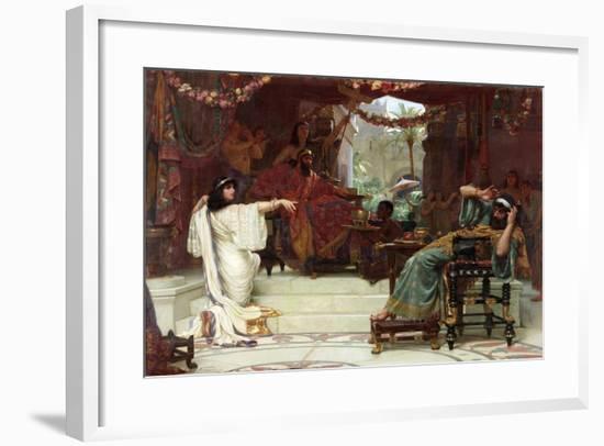Esther Denouncing Haman to King Ahasuerus, 1888-Ernest Normand-Framed Giclee Print