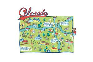 Colorado Map by Esther Loopstra