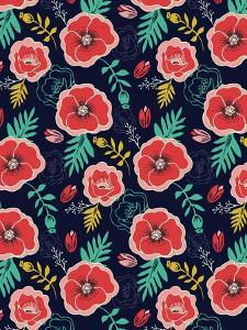 Floral Pattern V by Esther Loopstra