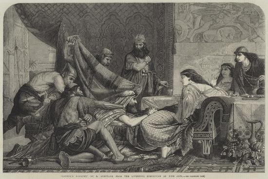 Esther's Banquet-Edward Armitage-Giclee Print