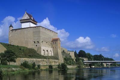Estonia, Narva, 13th Century Castle on Narva River--Giclee Print