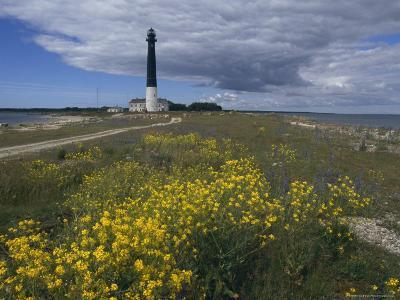 Estonia, Saaremaa: Landscape of Lighthouse-Brimberg & Coulson-Photographic Print