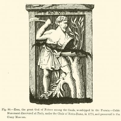 Esus, the Great God of Nature Among the Gauls, Worshipped in the Forests--Giclee Print