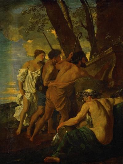 Et in Arcadia Ego, Arcadian Shepherds Try to Decipher the Inscription on an Ancient Sarcophagus-Nicolas Poussin-Giclee Print