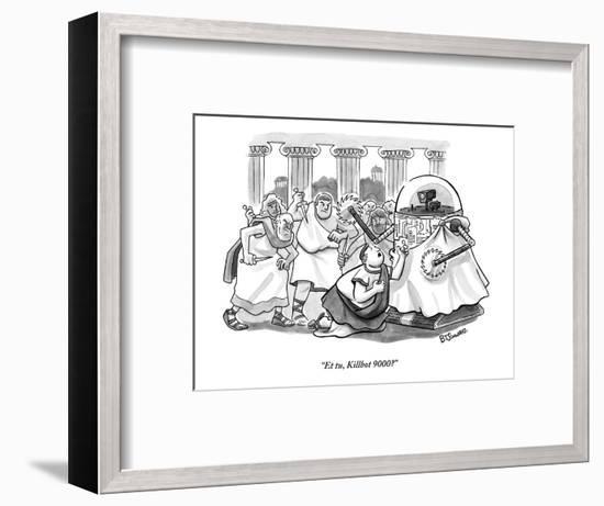 """Et tu, Killbot 9000?"" - New Yorker Cartoon-Benjamin Schwartz-Framed Premium Giclee Print"
