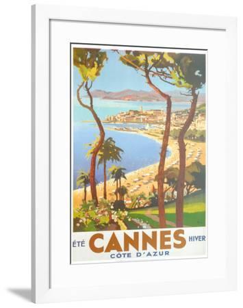 Ete Cannes Hiver-Peri-Framed Art Print