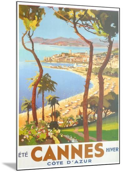 Ete Cannes Hiver-Peri-Mounted Print