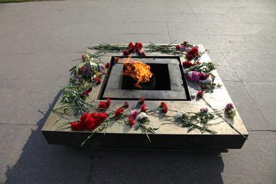 Eternal Flame in the Field of Mars, St Petersburg, Russia, 2011-Sheldon Marshall-Photographic Print