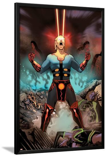 Eternals No.6 Cover: Ikaris-Daniel Acuna-Lamina Framed Poster