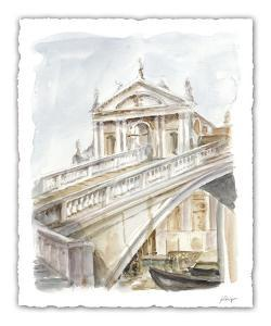 Architectural Watercolor Study I by Ethan Harper