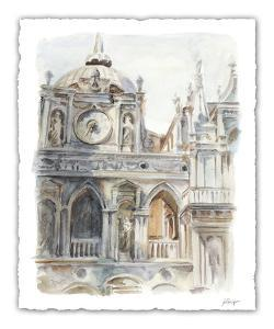 Architectural Watercolor Study II by Ethan Harper