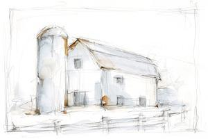 Barnyard Pencil Sketch II by Ethan Harper