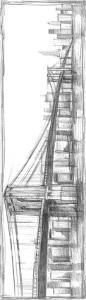 Brooklyn Bridge Sketch by Ethan Harper
