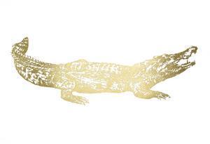 Gold Foil Crocodile by Ethan Harper