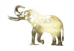 Gold Foil Elephant I by Ethan Harper