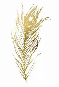 Gold Foil Feather I by Ethan Harper