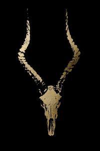 Gold Foil Rustic Mount II on Black by Ethan Harper