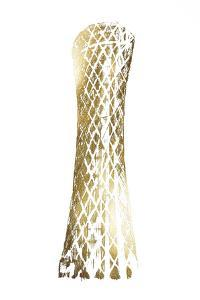 Gold Foil Tornado Tower, Doha by Ethan Harper
