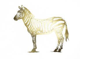 Gold Foil Zebra by Ethan Harper