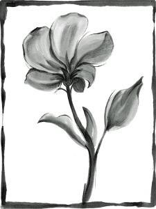 Non-embellished Sumi-e Floral I by Ethan Harper