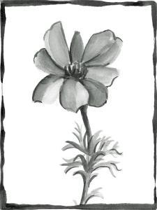 Non-embellished Sumi-e Floral IV by Ethan Harper