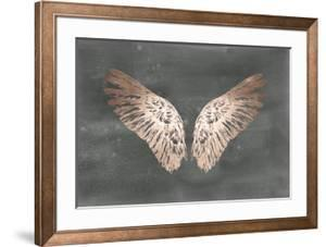 Rose Gold Foil Wings II on Black Wash by Ethan Harper