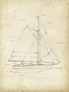 Sailboat Blueprint III by Ethan Harper