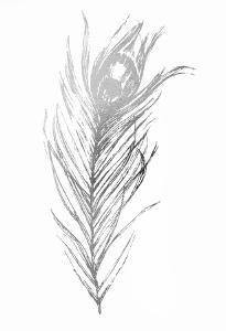 Silver Foil Feather I by Ethan Harper