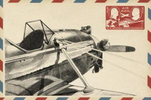 Small Vintage Airmail I by Ethan Harper