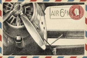 Small Vintage Airmail II by Ethan Harper
