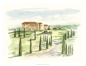 Watercolor Tuscan Villa I by Ethan Harper