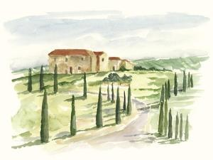 Watercolor Tuscan Villa I by Ethan Harper