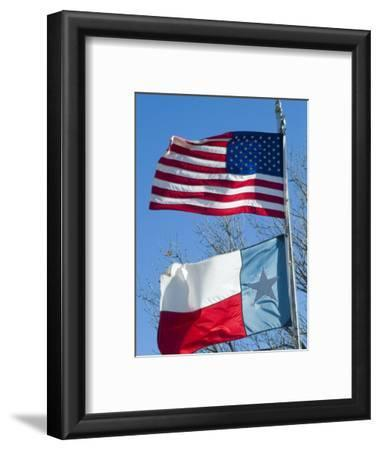 American and Texan Flags, Texas, USA