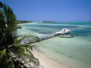 Beach and Jetty, Near Georgetown, Exuma, Bahamas, West Indies, Central America by Ethel Davies