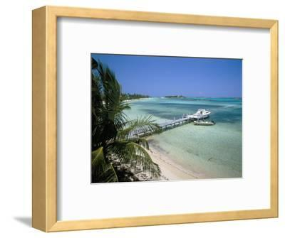 Beach and Jetty, Near Georgetown, Exuma, Bahamas, West Indies, Central America
