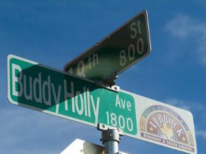 Buddy Holly Avenue, Lubbock, Texas, USA by Ethel Davies