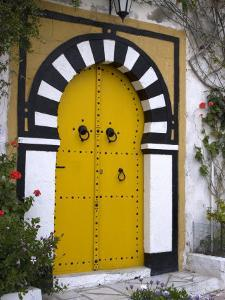 Door, Sidi Bou Said, Near Tunis, Tunisia, North Africa, Africa by Ethel Davies