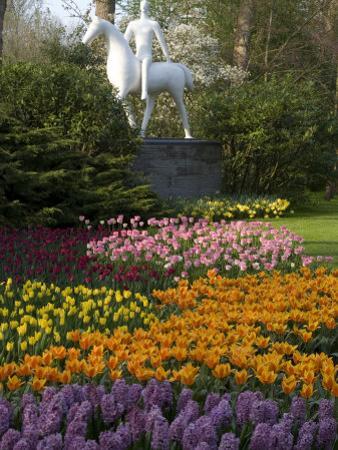 Flowers at Keukenhof Gardens, Near Leiden, Netherlands, Europe