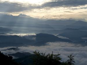 Himalaya View, Nagarkot, Nepal by Ethel Davies