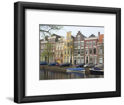 Houses Along Canal, Leiden, Netherlands, Europe