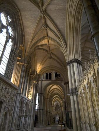 Interior, Lincoln Cathedral, Lincoln, Lincolnshire, England, United Kingdom by Ethel Davies